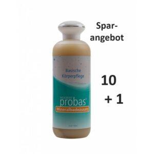 Moebert probas, Basisches Mineralbad, 11 x 500ml Schmuckflasche